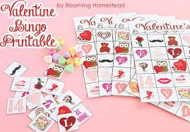 valentines bingo printable bingo blooming homestead