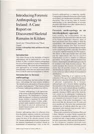 introducing forensic anthropology to ireland a case report on