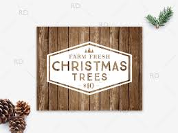 christmas tree wooden sign printable wall art trees for