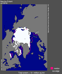 North Pole Alaska Map by August 2016 Arctic Sea Ice News And Analysis