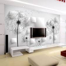 le murale chambre personnalisé photo papier peint 3d stéréoscopique pissenlit peinture