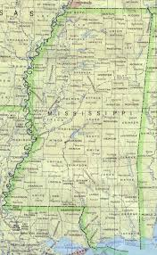 United States Mississippi River Map by