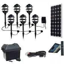 Solar Panel Landscape Lighting Solar Landscape Lighting Kit