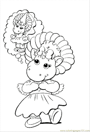 barney coloring pages free coloring