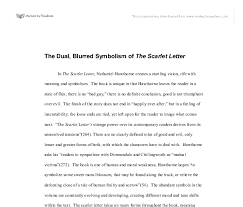 the dual blurred symbolism of the scarlet letter gcse religious