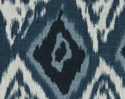 Upholstery Fabric For Curtains Blue Grey Ikat Upholstery Fabric Denim Blue Cotton Curtain