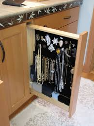 pull out organizer in the cabinets for jewelry functional and