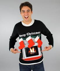 lighted fireplace ugly sweater best fireplace 2017