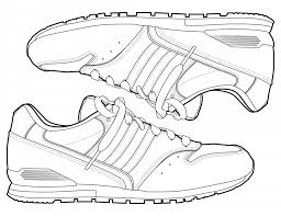 Running Shoe Coloring Page coloring pages running shoes best of converse shoe color page within