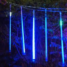 50cm new blue led meteor shower lights tree decoration