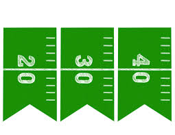 football banner free printable football party paper trail design