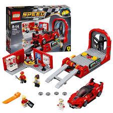 ferrari lego speed champions lego speed champions 75882 ferrari fxx k u0026 development center