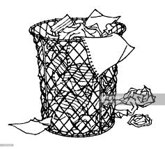 wastebasket stock illustration getty images