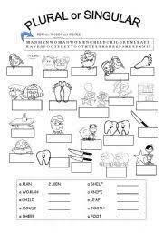 english teaching worksheets irregular plurals