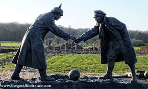 christmas day and the christmas truce statue the good life france