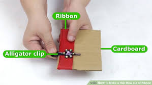 how to make hair bows for 4 ways to make a hair bow out of ribbon wikihow