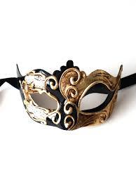 black and gold masquerade masks barcelona black gold venetian mask
