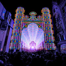 a cathedral made from 55 000 led lights colossal