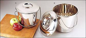 stainless steel compost pails lee valley tools