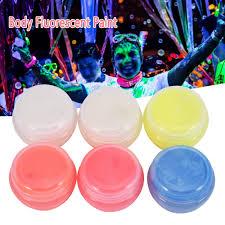 online shop 10 bottles body face paint fluorescent makeup flash