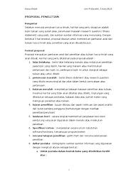 contoh membuat proposal riset contoh proposal penelitian pdf