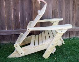 Vintage Adirondack Chairs Treated Pine Folding Adirondack Chair W Footrest