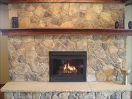 stone veneer over brick stone home exterior stone fireplace