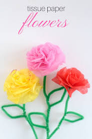 easy tutorial on how your kid u0027s can make diy tissue paper flowers