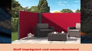 seitenmarkise balkon seitenmarkise eckmarkise sichtschutz windschutz 160x300 rotschwarz