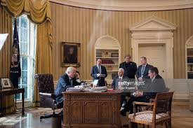 Oval Office White House Donald Trump Speaks With Russian Leader Vladimir Putin From The