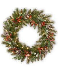 sweet deal on national tree company 30 frosted pine berry wreath