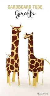 cardboard tube giraffe the craft train