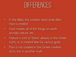 creation greek mythology and the bible by madisonjohns