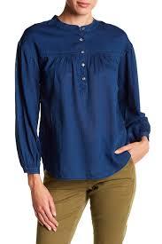 j crew blouses j crew chambray tissue henley blouse nordstrom rack