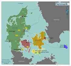 large regions map of denmark denmark europe mapsland maps