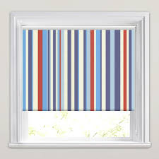 Blue And White Striped Blinds Colourful Red White U0026 Blue Striped Blackout Roller Blinds