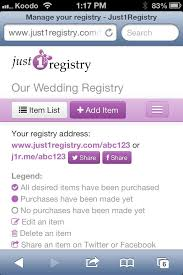 free online wedding registry how to manage your wedding registry on your mobile device with