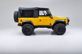 land rover defender 90 convertible sell used 1997 land rover defender 90 rare aa yellow grey