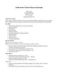 cover letter insurance underwriter trainee