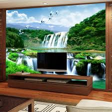 photo wall paper picture more detailed picture about custom 3d custom 3d wall murals wallpaper painting hd waterfall nature landscape living room sofa tv backdrop bedroom