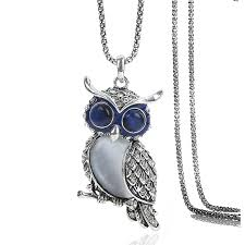 steel choker necklace images Ol style owl opal necklaces pendants rhinestone choker necklaces jpg