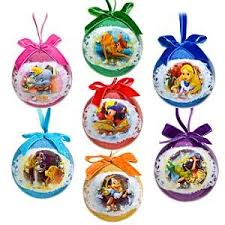 world of disney decoupage ornament set 7 pc toys