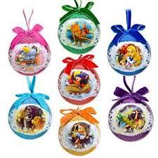 world of disney decoupage ornament set 7 pc toys
