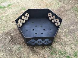 Welded Fire Pit Instructions On Building A Large Custom Steel Fire Pit