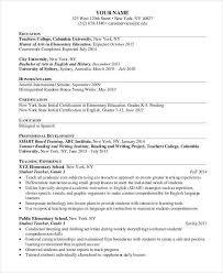 elementary teacher resume examples 2015 resume example for