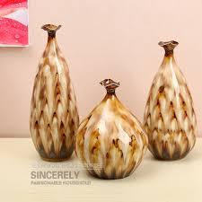 modern set of three ceramic vase home decor decoration flower