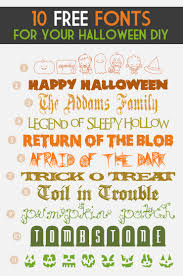 free halloween gift tags a collection of the best halloween fonts u0026 dingbats u2013 pinlavie com