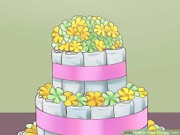 diper cake the best ways to make a cake wikihow