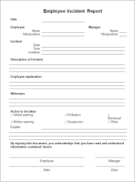 employee incident report templates employee incident report sle fieldstation co