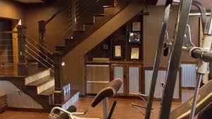 calamus lake retreat basement home gym decorating design ideas